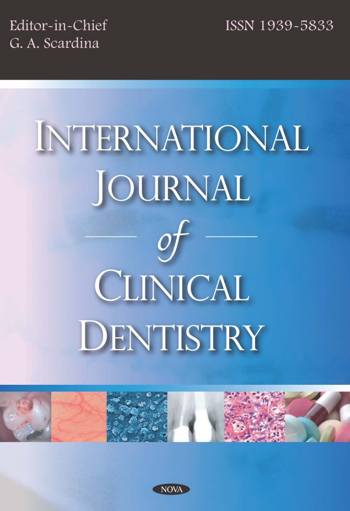 International Journal Of Clinical Dentistry Nova Science Publishers