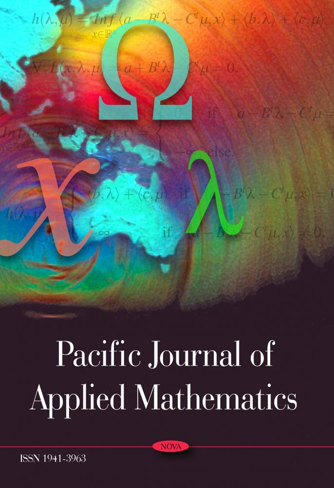 Pacific Journal Of Applied Mathematics Nova Science Publishers