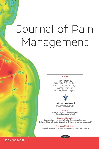 Journal of Pain Management | Nova Science Publishers