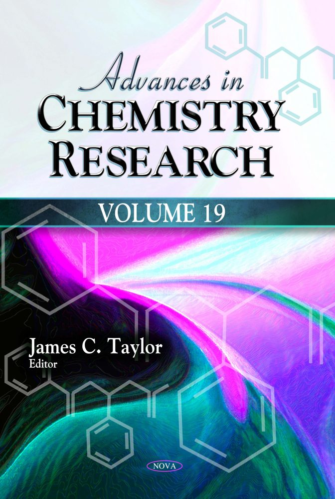 Advances In Chemistry Research Numbered Series Nova